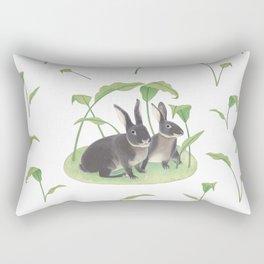 Black rabbits Rectangular Pillow