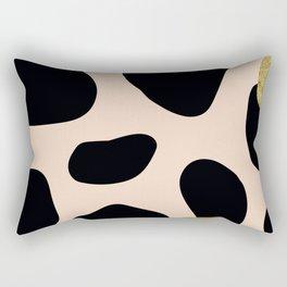 Golden exotics - Cow and soft tangerine Rectangular Pillow