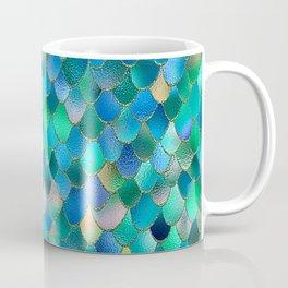 Summer Ocean Metal Mermaid Scales Coffee Mug