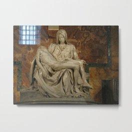 Michelangelo's Pieta Metal Print