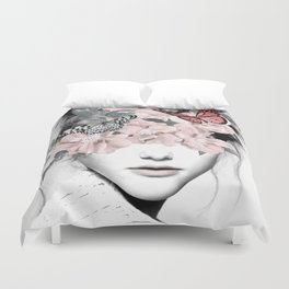 WOMAN WITH FLOWERS 10 Duvet Cover