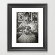 Cyber Barber Framed Art Print