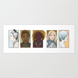 Dungeons & Dragons Party Art Print