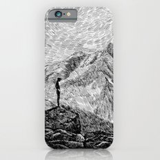 Child on the rock - Black ink iPhone 6s Slim Case