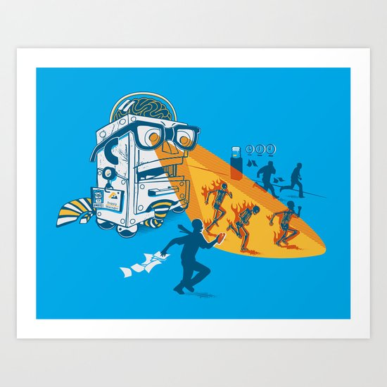 Bad Day At The Office Art Print
