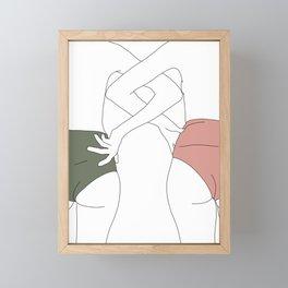Figures line drawing - Elinor Framed Mini Art Print