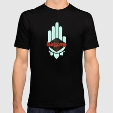 Welcome Black Mens Fitted Tee MEDIUM
