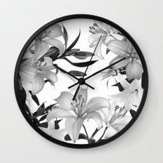 Glorious Lilies 2 Wall Clock