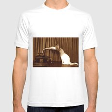 Her Mistresses Voice MEDIUM White Mens Fitted Tee