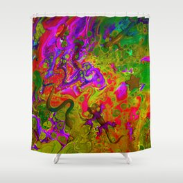 Rainbow Snakes Shower Curtain