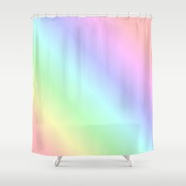 Pastel rainbow Shower Curtain