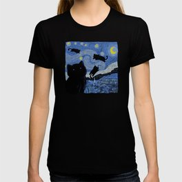 The Starry Cat Night T-shirt