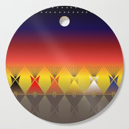 Night Tipi Cutting Board