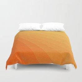 Shades of Sun - Line Gradient Pattern between Light Orange and Pale Orange Duvet Cover