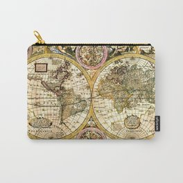 Gorgeous Old World Map Art from 15th Century Carry-All Pouch