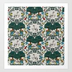 Medieval Tapestry Art Print