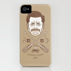 Ron Swanson Canoe Camp (dirty brown variant) Slim Case iPhone (4, 4s)