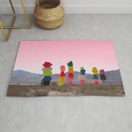 Seven Magic Mountains with Pink Sky - Las Vegas Rug