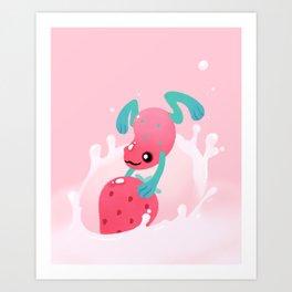 Strawberry poison milk 1 Art Print
