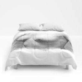 Sexy nude woman Comforters