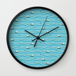 Sailing pattern 1c Wall Clock