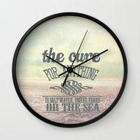 the cure Wall Clocks featuring The Cure for Anything  by secretgardenphotography [Nicola]
