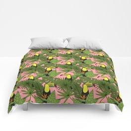 Doodle Toucans - Tropical Pattern Comforters
