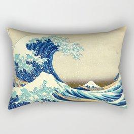 The Great Wave Off Kanagawa Katsushika Hokusai Rectangular Pillow