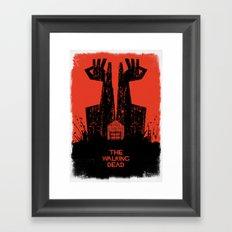 The Walking Dead. Framed Art Print