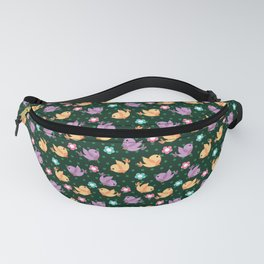 Freely Birds Flying - Fly Away Version 2 - Basil Color Fanny Pack