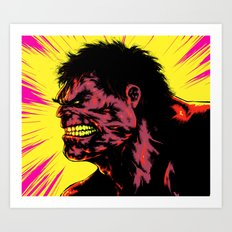 Hulk - Neon Art Print
