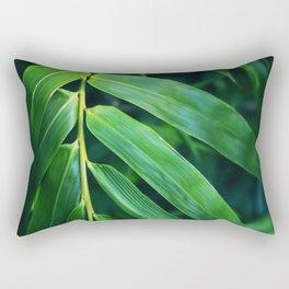Bamboo Leaf Zen Poster II Rectangular Pillow