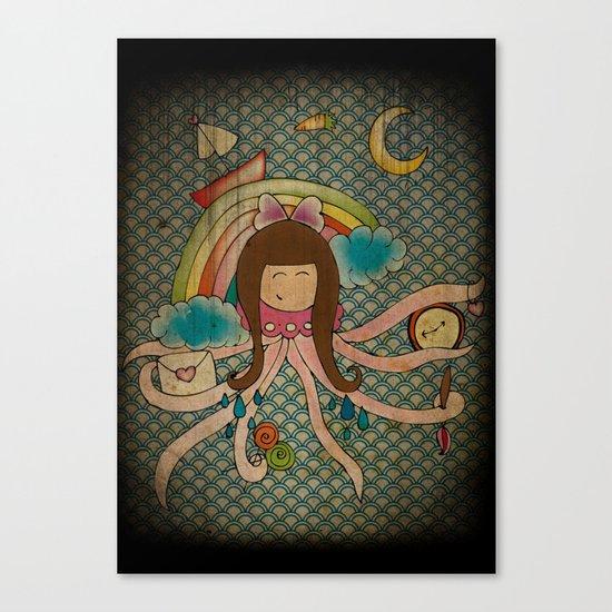 I'm A Little Octopus Canvas Print