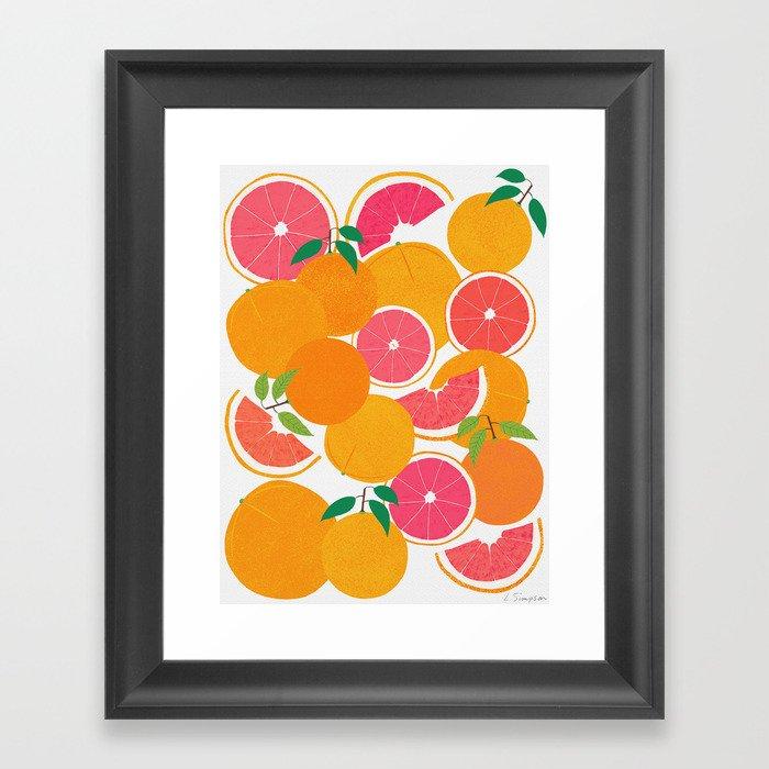 Grapefruit Harvest Gerahmter Kunstdruck