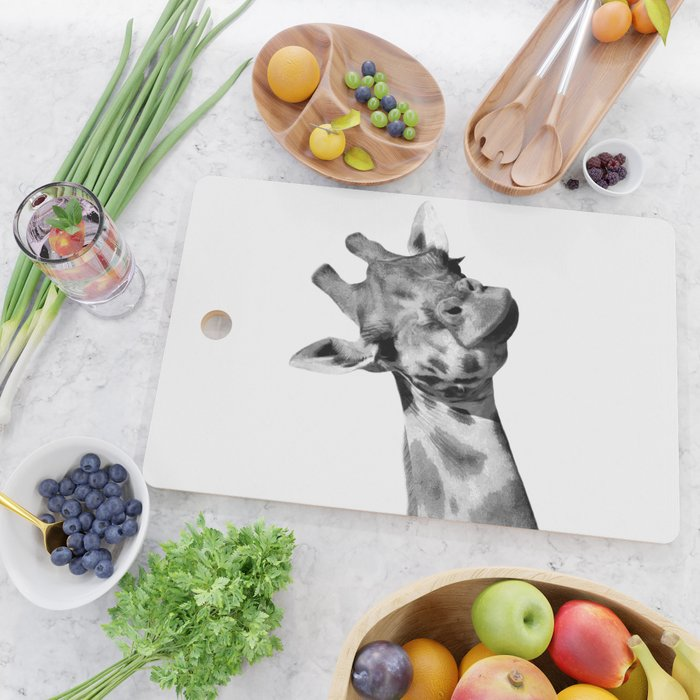 Black and white giraffe Cutting Board