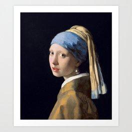 Girl With a Pearl Earring - Vermeer Art Print
