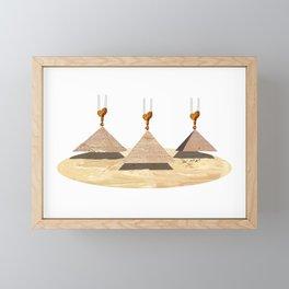 Building The Pyramids Framed Mini Art Print