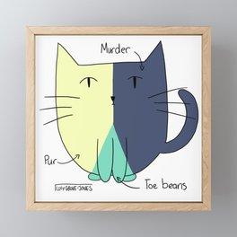 Cat Pie Chart Framed Mini Art Print