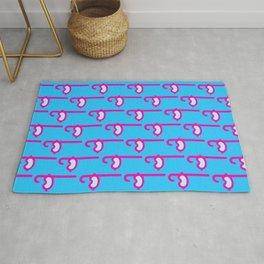 Pink Snorkel - Diver Pattern Rug
