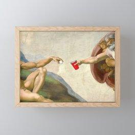 Sistine of Beer Pong Framed Mini Art Print
