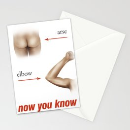 Arse from elbow Stationery Cards