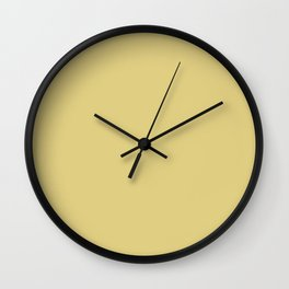 Peace of Autumn ~ Mustard Yellow Wall Clock