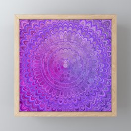 Mandala Flower in Violet Tones Framed Mini Art Print
