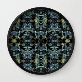 Fractal Floral Print Pattern Wall Clock