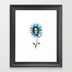skull daisy Framed Art Print