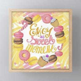 Enjoy This Sweet Moment Framed Mini Art Print