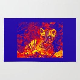 Aztec lion cub Rug