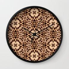 Leopard Kaleidoscope Wild Animal Print Wall Clock