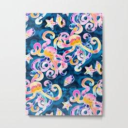 Tie-Dye Octopi Metal Print