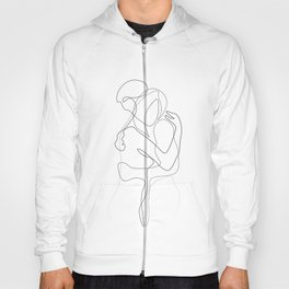 Lovers - Minimal Line Drawing Hoody